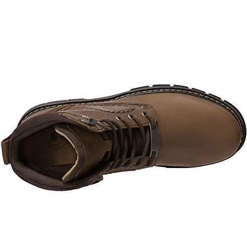 Cuero Brown Camel De Crown Adulto Militares Zapatos Chelsea Botas Hombre Para x7rqX47