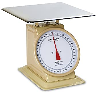 """Detecto T200 Top Loading Fixed Dial Scale, 15"""" x 15"""", 200 lb. Capacity"""
