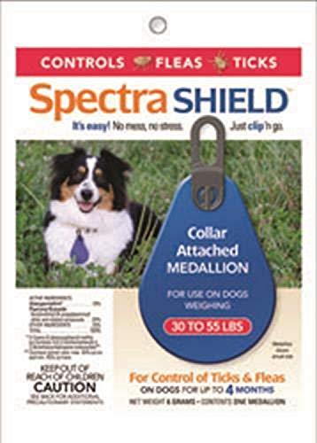 Durvet Spectra Shield Collar Attached Medallion, 30 to 55-Pound