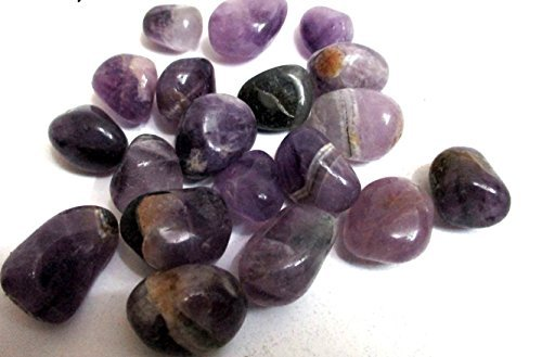 Amethyst Tumbled Stone 100 Grams Attractive Genuine A Grade Approx.75