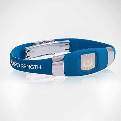 UPC 609728908089, Purestrength Ion Sports Band Healthy Wristband Negative infused Oxygen Elite UNI (BLUE / SILVER)