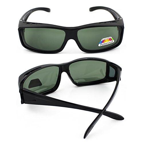 e585486ed8 Bueno wreapped WELUK Hombre Mujer Polarizado Gafas del Sol sobre las gafas  de la Prescripción UV400
