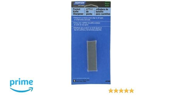Norton Pocket Knife Abrasive Sharpener, 3