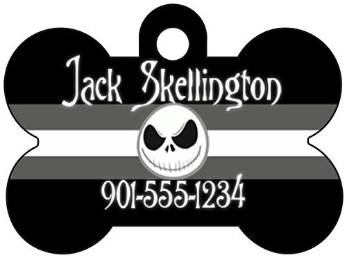 (uDesignUSA Disney Nightmare Before Christmas Jack Skellington Dog Tag Pet Id Tag Personalized w/Name &)