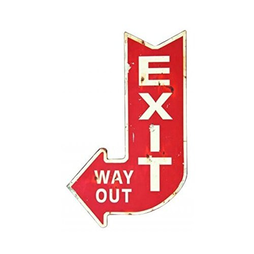 Vintage Looking EXIT Way Out Sign (Old Signs)