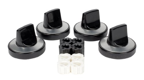 Camco 00943 Gas Range Knobs Top Burner (Black) Black Burner Knob