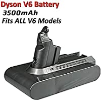 3500mA Replacement Battery 21.6V for Dyson V6 Series Vacuum Cleaner DC58 DC59 DC61 DC62 Li-ion Battery