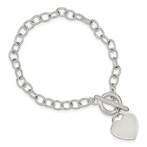 Sterling Silver Oval Link Heart - Link Heart Oval