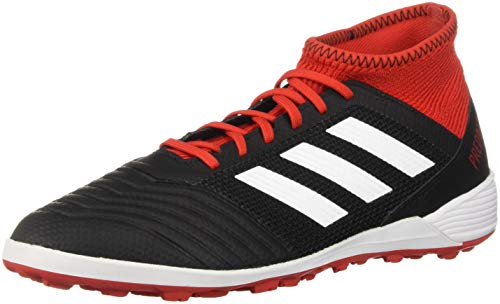 adidas Men's Predator Tango 18.3 Turf Soccer Shoe, Black/White/Solar red, 10 M US ()