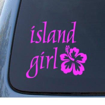 ISLAND GIRL Hibiscus Notebook Sticker