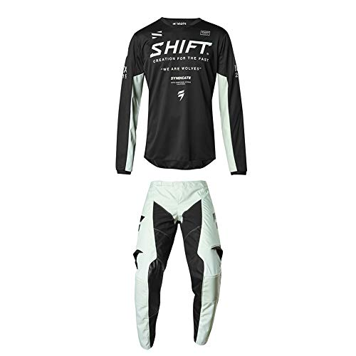 Shift Racing 2019 | Whit3 Label Iceland Basalt Limited Edition | Adult Mens Jersey and Pants Combo | Black Medium/32