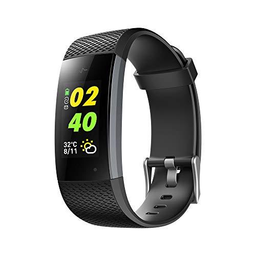 Lixada1 Touchscreen Smart Bracelet Sports Smart Wristband Heart Rate Indicator Call Message Reminder Calorie Distance Step Running Hiking Workout Smart Sports Bracelet