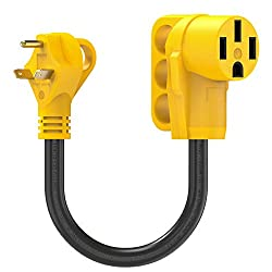 Why you need Kohree RV Electrical Adapter? Some RV Parts/Campground only have 30 amp or 50 amp service, Kohree 18'' RV electrical adapter allows you to connect from a 30amp external receptacle at RV Park/Campground to a 50amp service on your RV, It i...