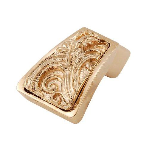 Vicenza Designs K1251 Liscio Leaves Finger Pull Antique Gold