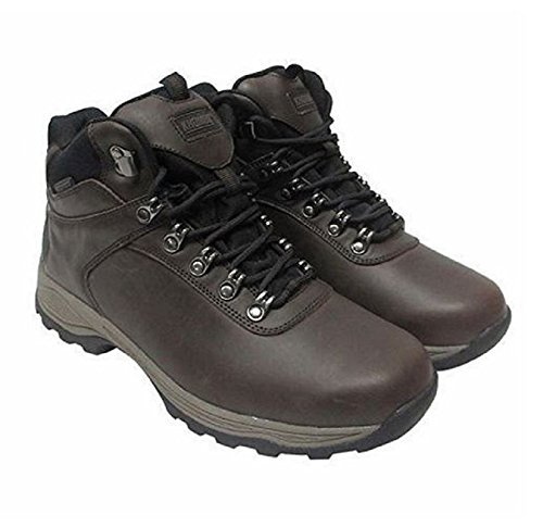 Khombu Men's Size 9 MED Leather Boot Brown Hiker Ravine Waterproof