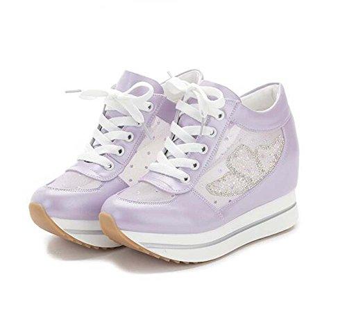 del Zapatos inferior malla casual zapatos mujeres aumento las parte mujer estudiantes transpirable de morado mujeres los grueso Los muffins de de deportes dentro waCwrRqt