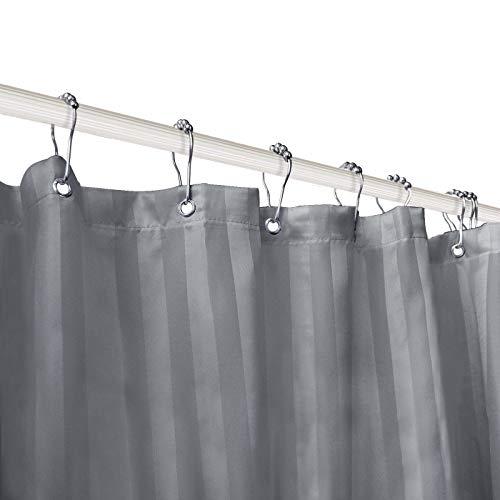 Subrtex Bathroom Waterproof Printed Stripe Shower Curtain Liner, 72''x72'', Gray by Subrtex