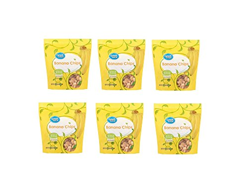 Great Value All Natural Banana Chips, 12 oz (Pack of 6) by Great Value