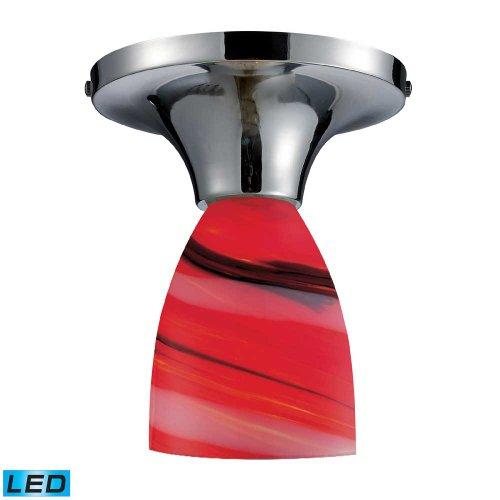 UPC 748119054414, Elk Lighting Polished Chrome / Candy Glass Celina 1 Light LED Semi Flush 10152-1