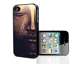Golden Buddha Face Art Hard Snap on Phone Case (iPhone 4/4s)