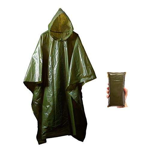 Survival General Lightweight Rain Gear Poncho Emergency Survival Cover Shelter Norwegian Military Style