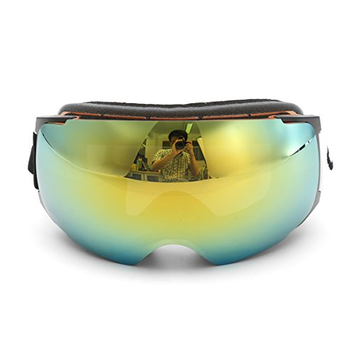 CoCocina Gold Frame Snowboard Ski Goggles Magnet Uv Protection Anti Fog Dual - Dimensions Sunglasses Chart