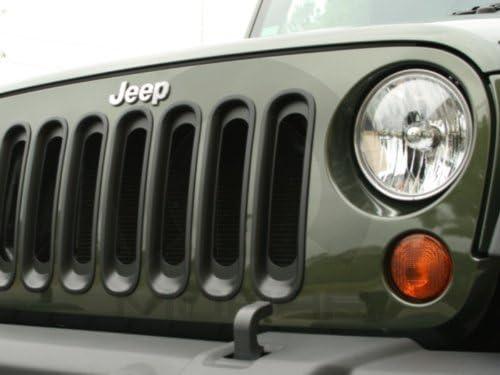 Jeep Wrangler JK 2007-2015 Black Grille Inserts