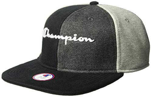 Champion LIFE Men's Reverse Weave Baseball Hat-Colorblock, Black/Oxford Grey/Granite Heather, OS