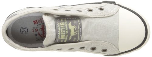 Mustang - Zapatillas para Niños-Niñas Blanco (203 Ice)