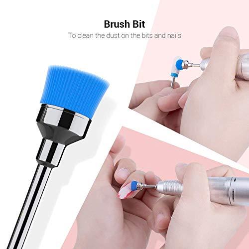 MelodySusie Tungsten Carbide Diamond Nail Drill Bits Set Professional Acrylic Nail File Drill Bit, Nail Art Tools for Manicure Pedicure Cuticle Gel Nail Polishing (7pcs)