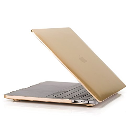 Ruban   Macbook Pro 13 Case 2017   2016  A1706  A1708   Rubberized Hard Case  Newest Release 2017   2016  With Without Touch Bar   Touch Id Shell Cover 13 Inch   Gold
