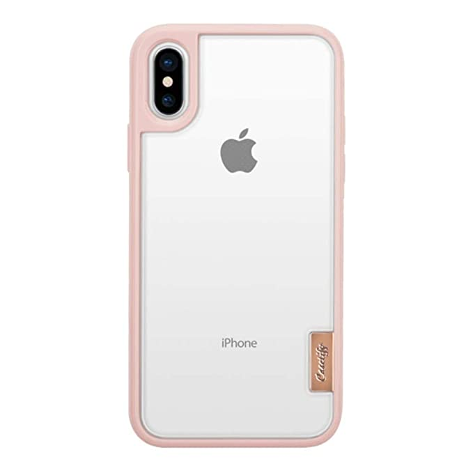huge discount 54202 45d63 Casetify Clear Grip iPhone Xs X Case Ultra Slim Transparent Hard Back Cover  and Frost Shockproof Drop Proof Bumper Wireless Charging Compatibility for  ...