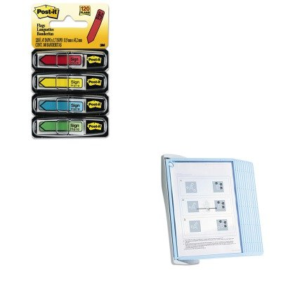 KITDBL594306MMM684SH - Value Kit - Durable SHERPA Style Desk Reference System (DBL594306) and Post-it Arrow Message 1/2amp;quot; Flags (MMM684SH)