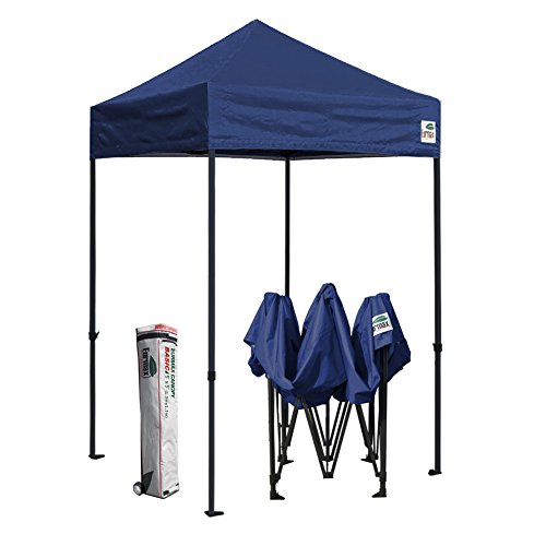 Cheap Eurmax Canopy 5×5 Pop Up Canopy Portable Tent with Wheeled Carry Bag Bonus Tent Stakes and Ropes (Navy Blue)