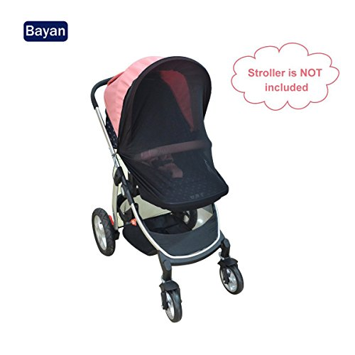 Canopy Stroller Sun Shade Baby Car Seat Sun Shade Cover Crib Net-Fits Most Single Strollers, Prams, Pushchairs, Pack'n'Plays, Cribs & Bassinets.