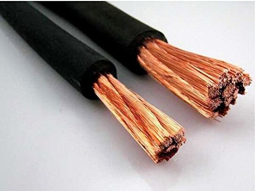 Nassau Power wire 2/0 Gauge AWG 175 ft BLACK. HD USA Welding Lead and Car Battery Cable 600V Copper Wire Cable by Nassau Electrical Supply (Image #1)