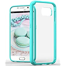 Samsung Galaxy S6 Case, VENA® [RETAIN] Slim Hybrid Case with ShockProof TPU Cornerguard Bumper and Clear Scratch Resistant Hard Cover for Samsung Galaxy S6 (Teal)