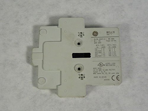 General Electric BCLL11 C-2000 Auxiliary Contact Base Block 1NO/1NC