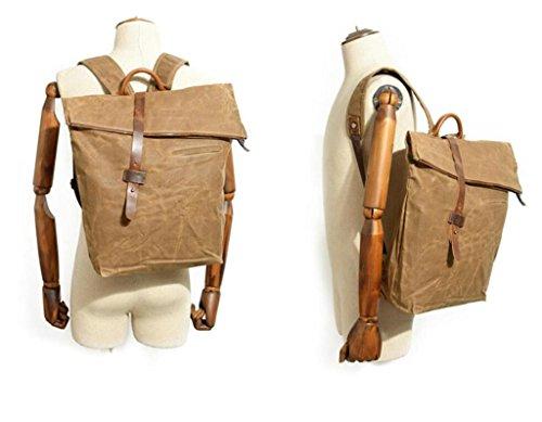 Great Strange Ocio doble bolsa de hombro estudiante bolsa de viaje hombres y mujeres impermeables aplicar cuatro colores 0.82kg , deep grey khaki