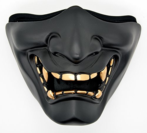 - Samurai Half Face Mask Filter Motorcycle Biker Cycling Ski Snowboard Winter