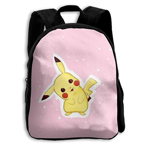MPJTJGWZ Children's Backpack Casual Oxford Cloth Fashion Pikachu Print School Bag -