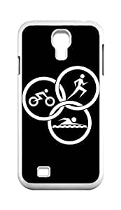 Cool Painting Triathlon Snap-on Hard Back Case Cover Shell for Samsung GALAXY S4 I9500 I9502 I9508 I959 -1391