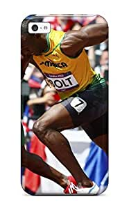 Hot Snap-on Usain Bolt Running Hard Cover Case/ Protective Case For Iphone 5c