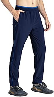 YSENTO Men's Quick Dry Lightweight Breathable Hiking Running Pants with Zipper Poc