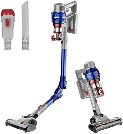 HONiTURE Cordless Stick Vacuum 380W Brushless Digital Motor 26KPa Strong Suction Cordless Vacuum 35min Runtime Foldable Handheld Vacuum for Pet Hair Carpet and Hardwood Floor