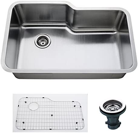 Empire SP-19C Single Undermount Sink with Grid and Drain