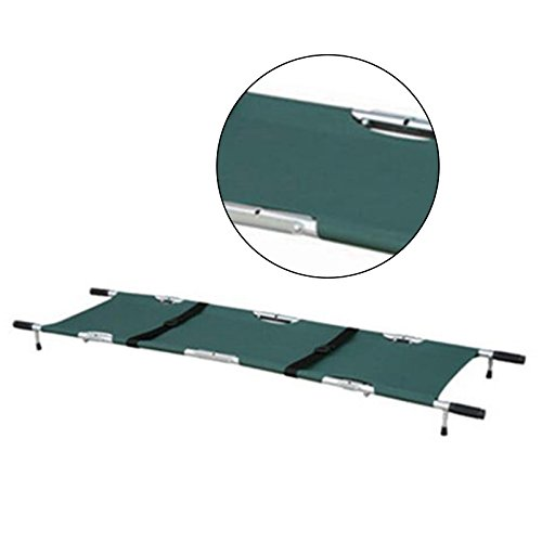 Carejoy Foldable Stretcher,Professional Green Foldable aluminum Medical Stretcher With Wheels Ambulance Portable,Foldable Sports First Aid Stretcher