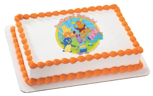 Backyardigans Characters Backyard Friends Edible Party Cake Topper Image