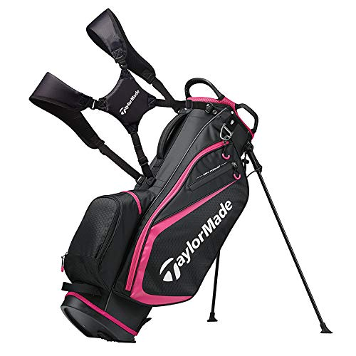 - TaylorMade 2019 Golf Select Stand Bag, Black/Pink