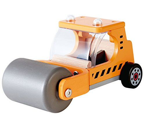Hape Steam 'N Roll Wooden Kid's Construction Toy Vehicles